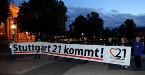 Protest FÜR Stuttgart 21 IG Bürger